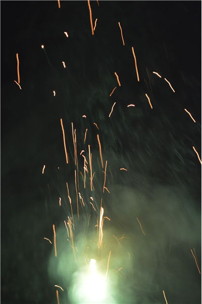 Picture Of Firework Green Smoke